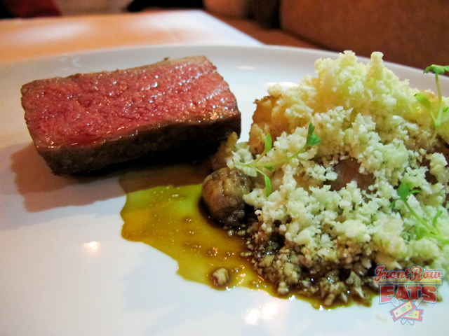 Beef with Sweetbreads, Cauliflower, Garlic-Miso