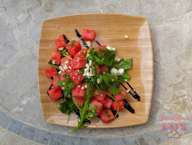 Watermelon Salad w/ Feta, Mint, Basil, Arugula, Balsamic