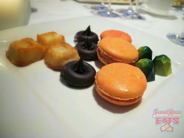 Lemon–Basil Bonbons, Peach–Saffron Macarons, Madeleines, and Apricot Financiers