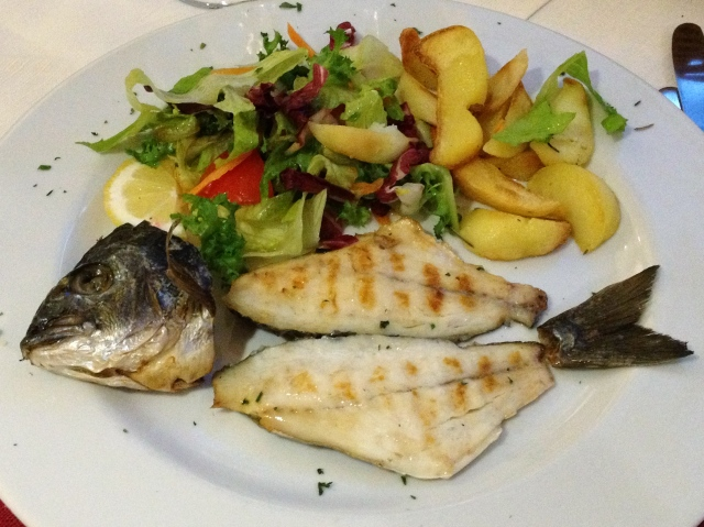 Fish is usually served whole. Don't be surprised if your dinner looks like this.