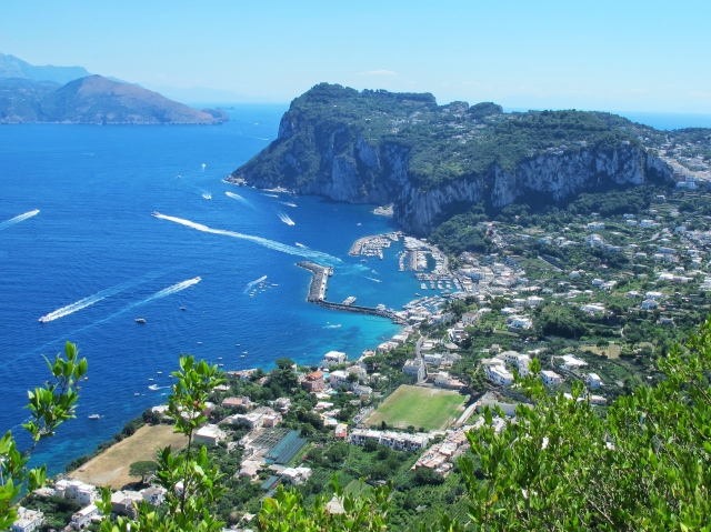 View from Anacapri overlooking Capri