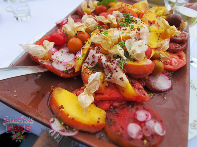 Heirloom Tomato & Peach Salad, Shaved Radish, Guanciale